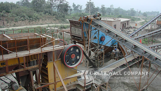 Marble crusher in marble stone production line